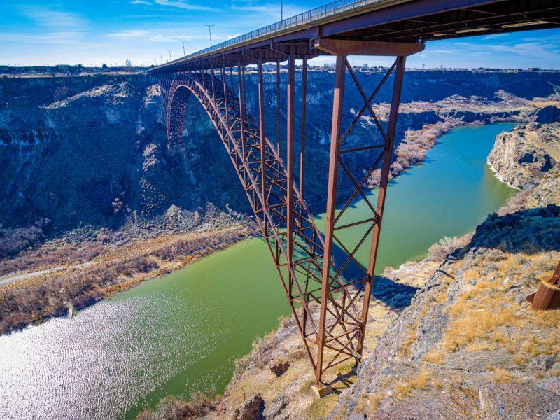 bridge over the snake river