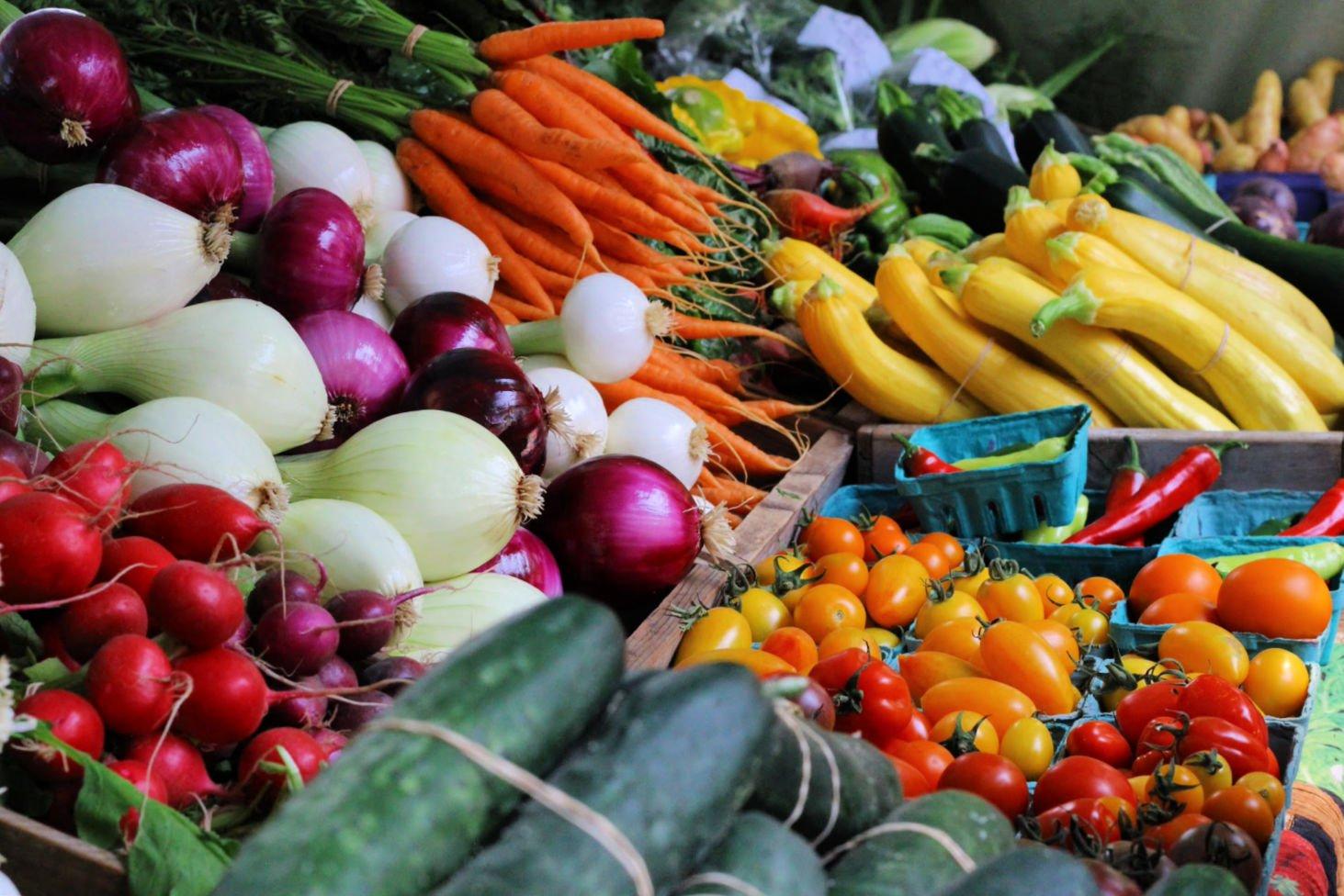 Farmers Market Vegetables in Boise Idaho