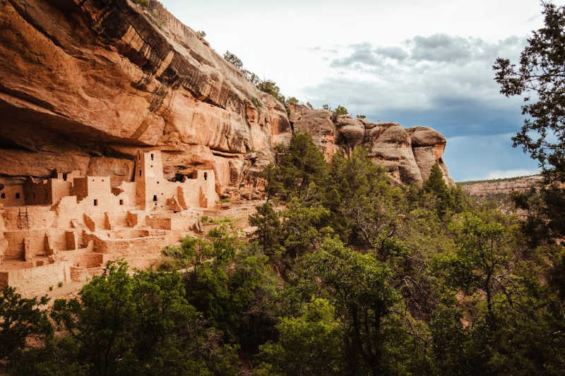 ancient adobe buildings at mesa verde national park