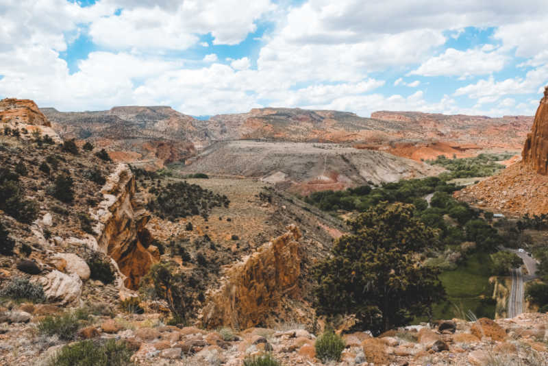 dessert rock at Capitol Reef state park