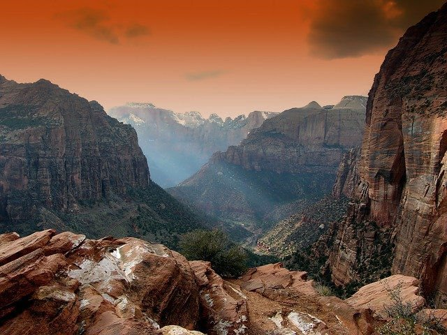 Red canyons at Zion National Park