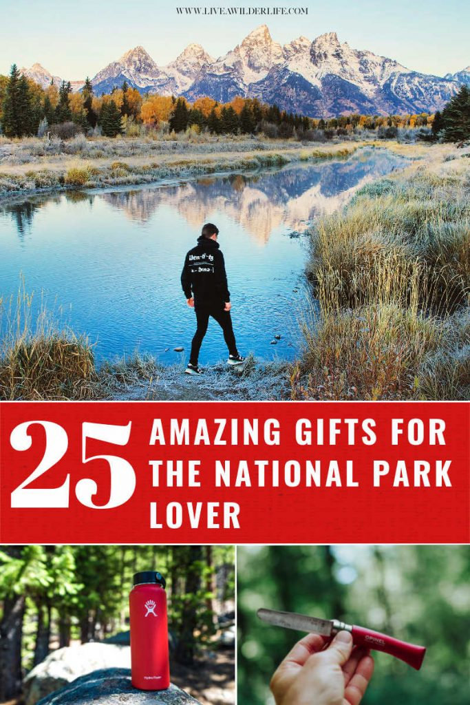 amazing gifts for the national park lover Pinterest image
