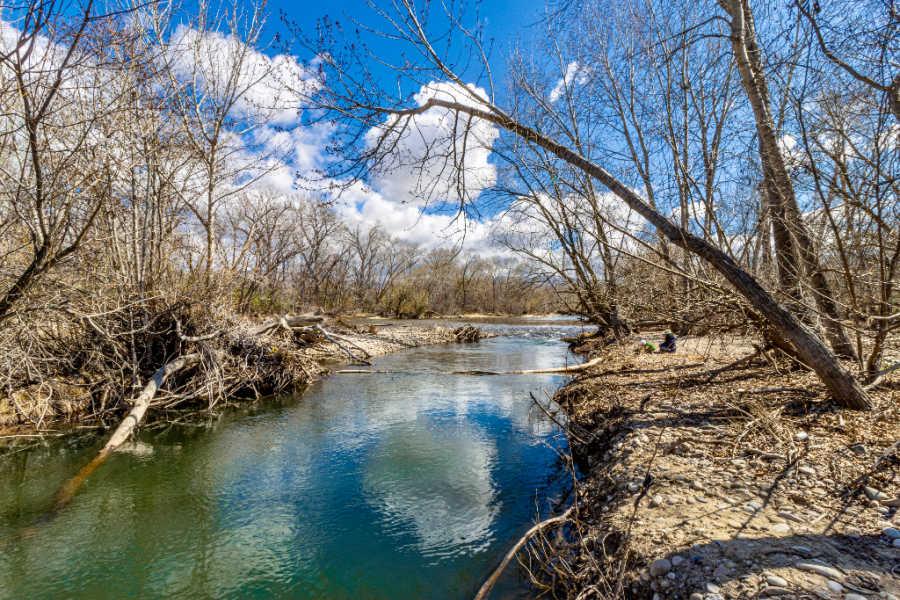 Boise River in winter