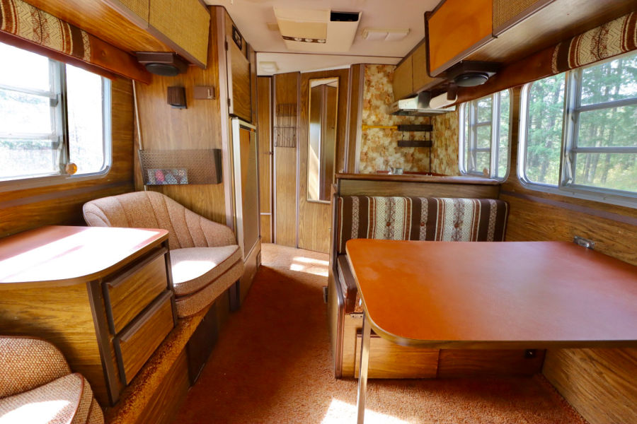 orange and brown vintage 1979  camper