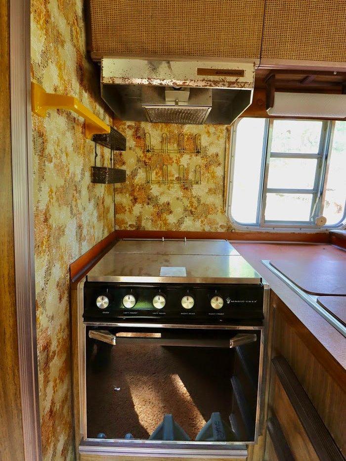 old kitchen camper
