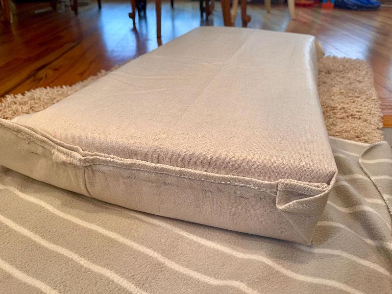 close of reupholstered cushions