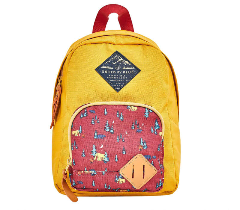 yellow and orange toddler hiking backpack