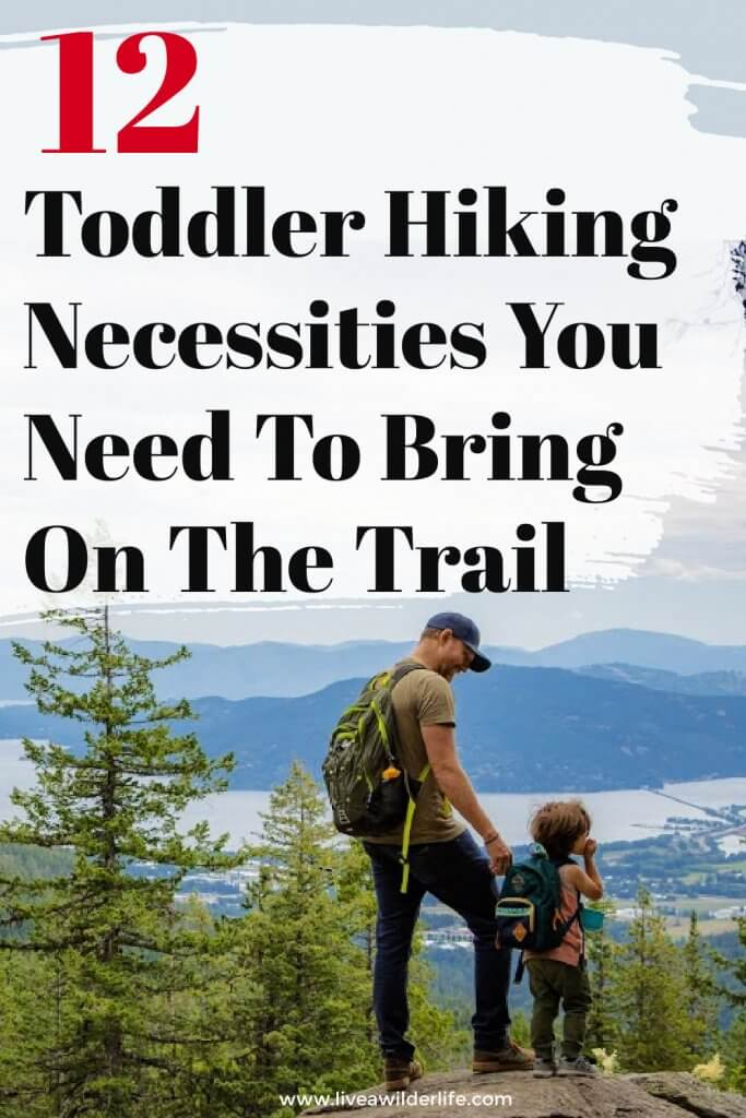 pinterest graphic about toddler hiking  gear you need