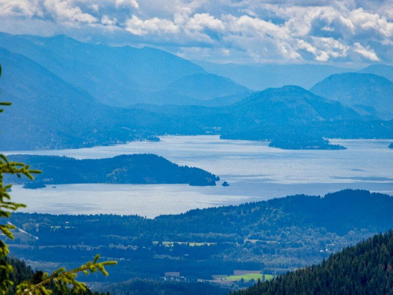 gorgeous view of Lake Pend Oreille from Schweitzer Mountain
